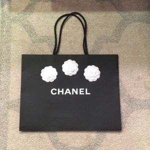 Chanel Shopping Bag & Camelia Flowers